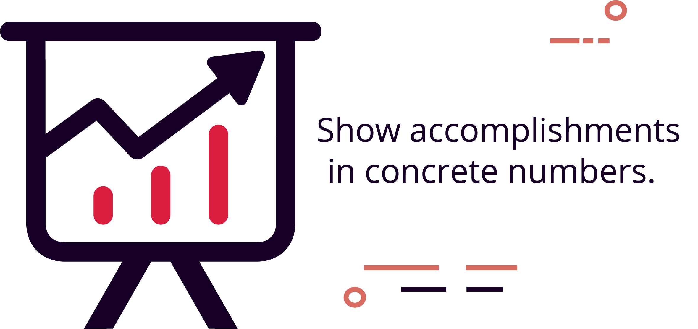 Using concrete numbers makes you 40% more likely to be hired